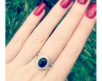 Black Onyx Gemstone Ring