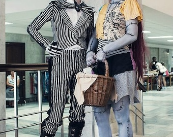 Nightmare before christmas Sally and Jack helloween cosplay for party