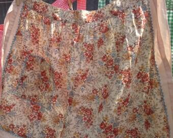 Pretty floral apron