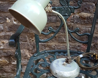 Much loved little industrial table lamp
