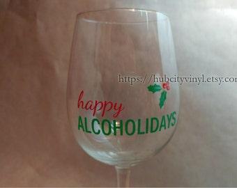 Happy Alcoholidays Vinyl Decal