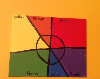 complementary colors canvas