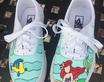 Hand-Painted Little Mermaid Shoes