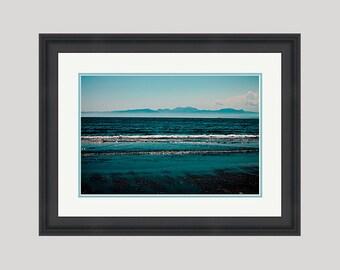 Custom framed 18x12 inch Blue Sea