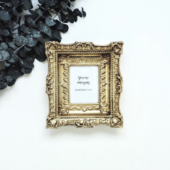 Aerin Gold Home Decor Inspiration: Gold Frame Vintage Inspirational Quote Home Decor By