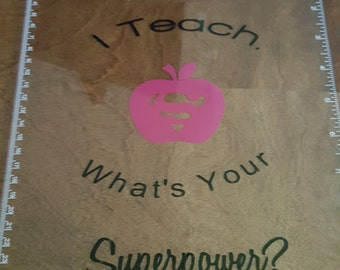 I teach what is your superpower clipboard