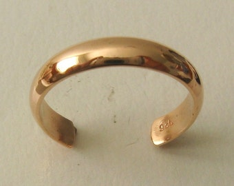 Genuine SOLID 9ct ROSE GOLD Dome toe Ring