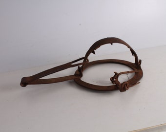 Antique Primitive Hand Forged Iron Trap.
