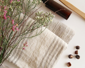 Linen bath towel, Premium linen,rustic towel,striped linen, bath towel, hand towel, face towel, spa towel, beach sheet, body sheet