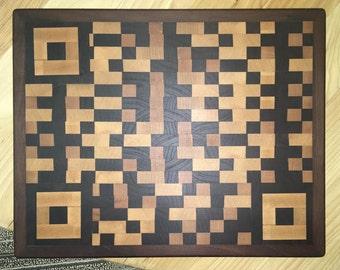 Walnut & Maple QR Code Cutting Board
