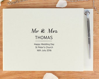 Personalised Guest Book & Pen, Bridal Vintage, engagement party, Wedding Classic, birthday party, sweet 16,  retro party, message book