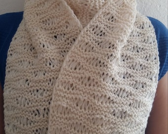 White scarf handmade winter