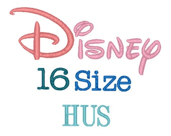 Disney 16 Sizes Disney Embroidery Font HUS Format Embroidery Machine,Monogram Font Instant Download