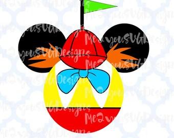 Tweedle Dee/Dum Mouse Head SVG,EPS,PNG,Studio