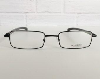 Gold & Wood 392.32 eyeglasses, Gold and Wood glasses, Vintage eyewear, Genuine horn eyeglasses