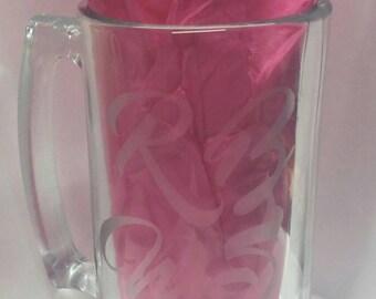 RBWS Etched Beer Mug