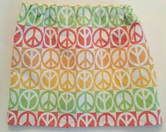 Girls size 5/6 peace sign skirt