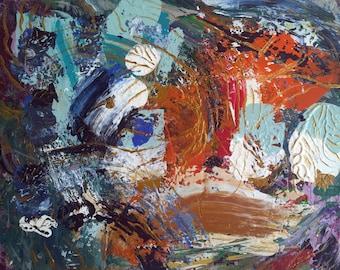 Abstract 01 * 50 x 40 cm * acrylic on canvas