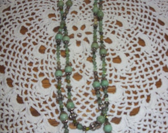 Green Agate & Green Turquoise Necklace
