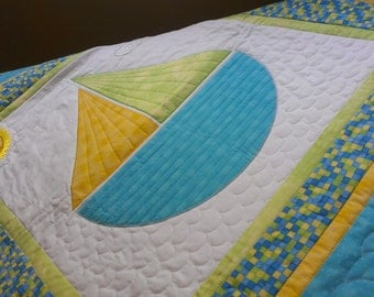 Baby Quilt Gender Neutral Handmade