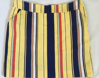 Vintage loud mouth striped golf skirt size 8