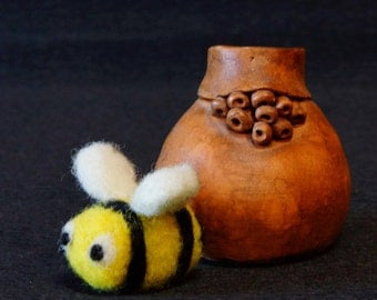 Needle felted Bee