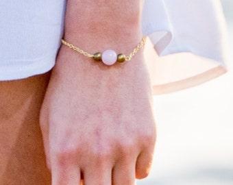 single sunset glass bead bracelet