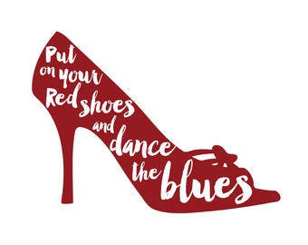 Put on your red shoes and dance the blues: Bowie A4 print