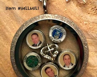 Love In A Locket - Personalized Photo Locket - Military