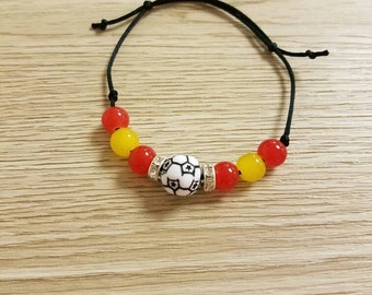 Handmade Spain Soccer Friendship Bracelet