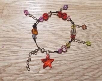 10 Multicolor Sea Star  Bracelets Party Favors.
