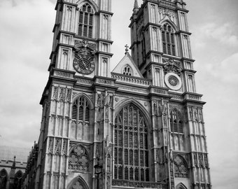 Westminster Abbey, London, England, UK, Britain Black and White Photo