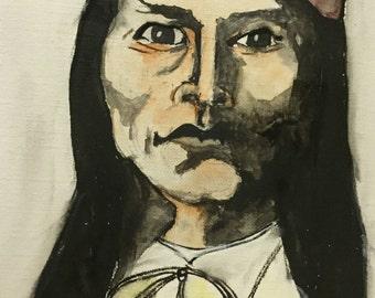 Naiche, original watercolor