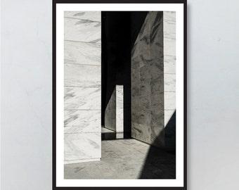 Photography Print, Black and White, Art, Minimal, Architecture, Printable Art, Digital Art,