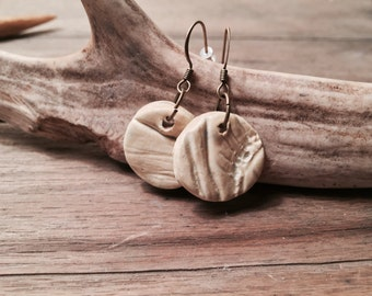 Wood Grain Earrings