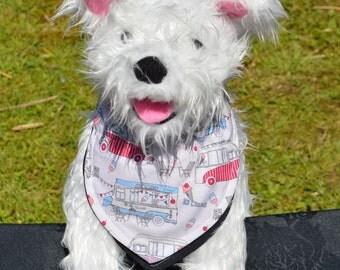 Dog Bandana - Ice Cream Van  , Collar bandana