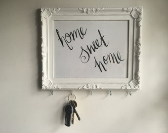 Handmade, Wall mountable key holder, can be personalised