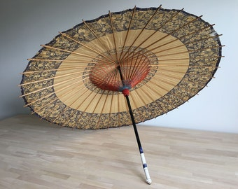 Japanese painted paper parasol