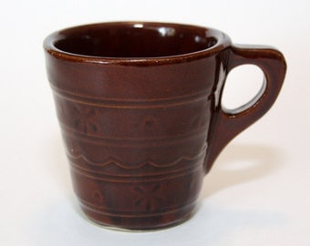 Marcrest USA Daisy Dot Mug, Cup, 1950's Vintage, Brown, Antique, EUC, Flawless