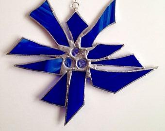 Blue Glass Sun Catcher