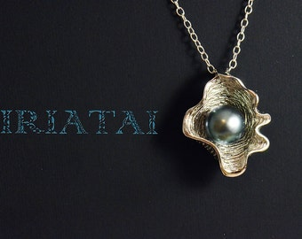 Tahitian Pearl and sterling silver pendant