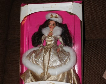 Barbie doll, Winter Fantasy, 1995 Special Edition, brunette, new in box