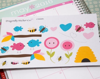 Birds, Bees and Butterflies, Planner stickers