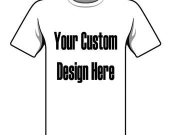 Custom Tee Shirt Silk Screened
