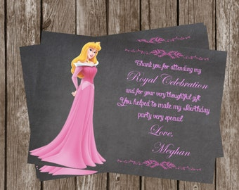 Princess Aurora Thank You Card  File    DIY Aurora Thank You