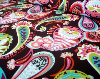 Cotton fabric Lottie collection - Lah-Tee-Dah Brown