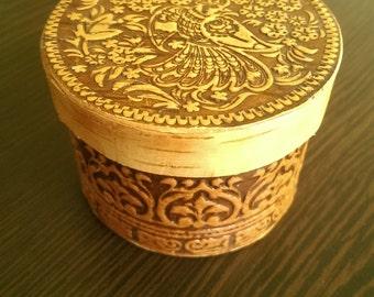 Birch Bark box Beresta handmade jewelry trinket box home decoration