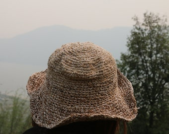 Hemp Summer Hat from Nepal - 0031