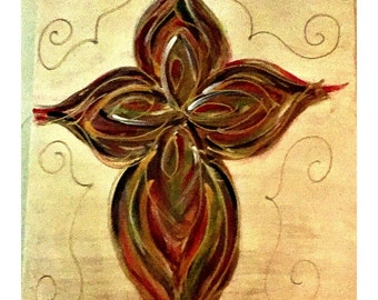 Hand Painted Cross