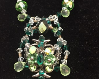 Greens! Greens!! Greens!!! Necklace and earring set
